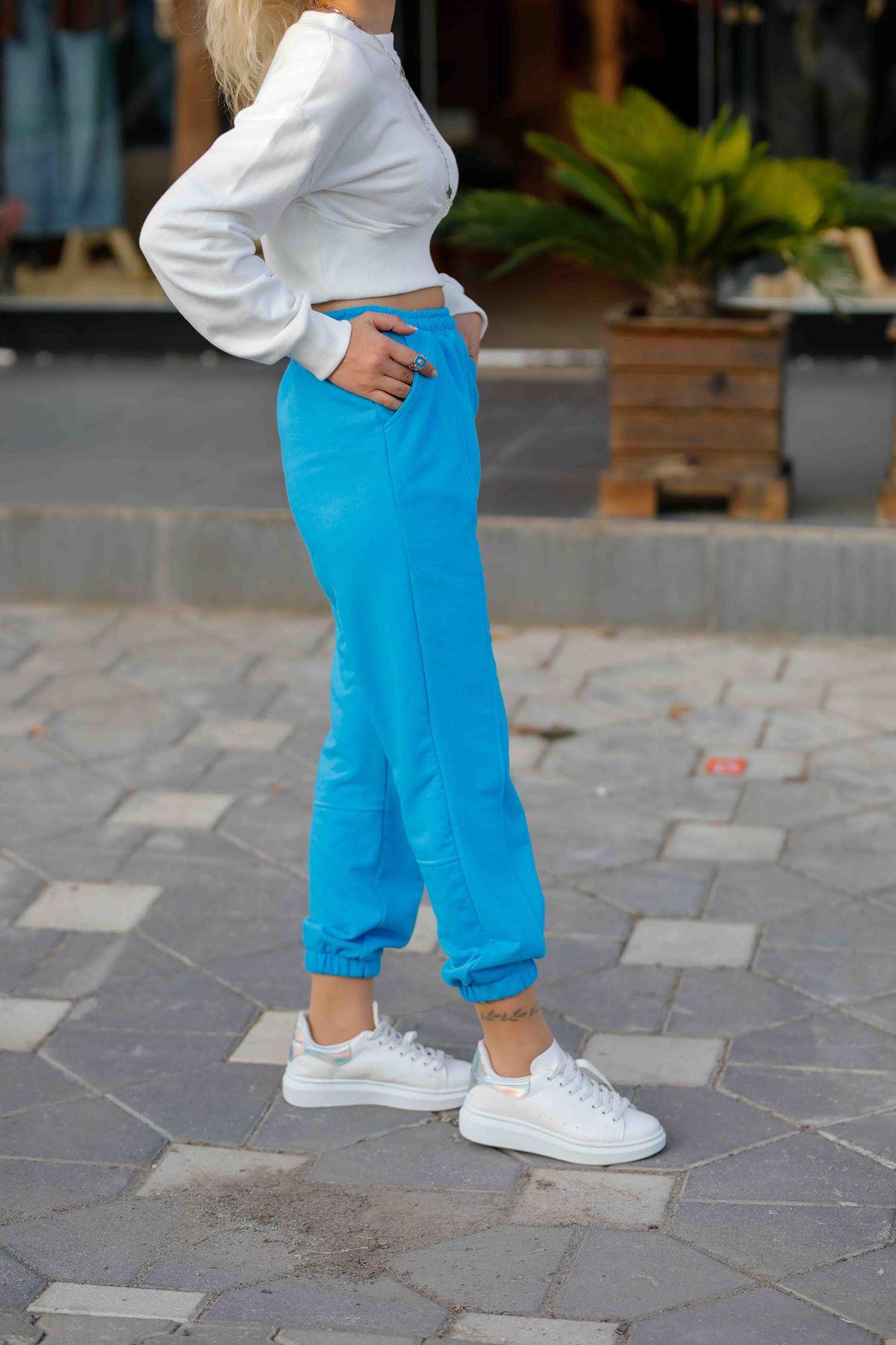 Paça Lastik Detaylı Pantolon