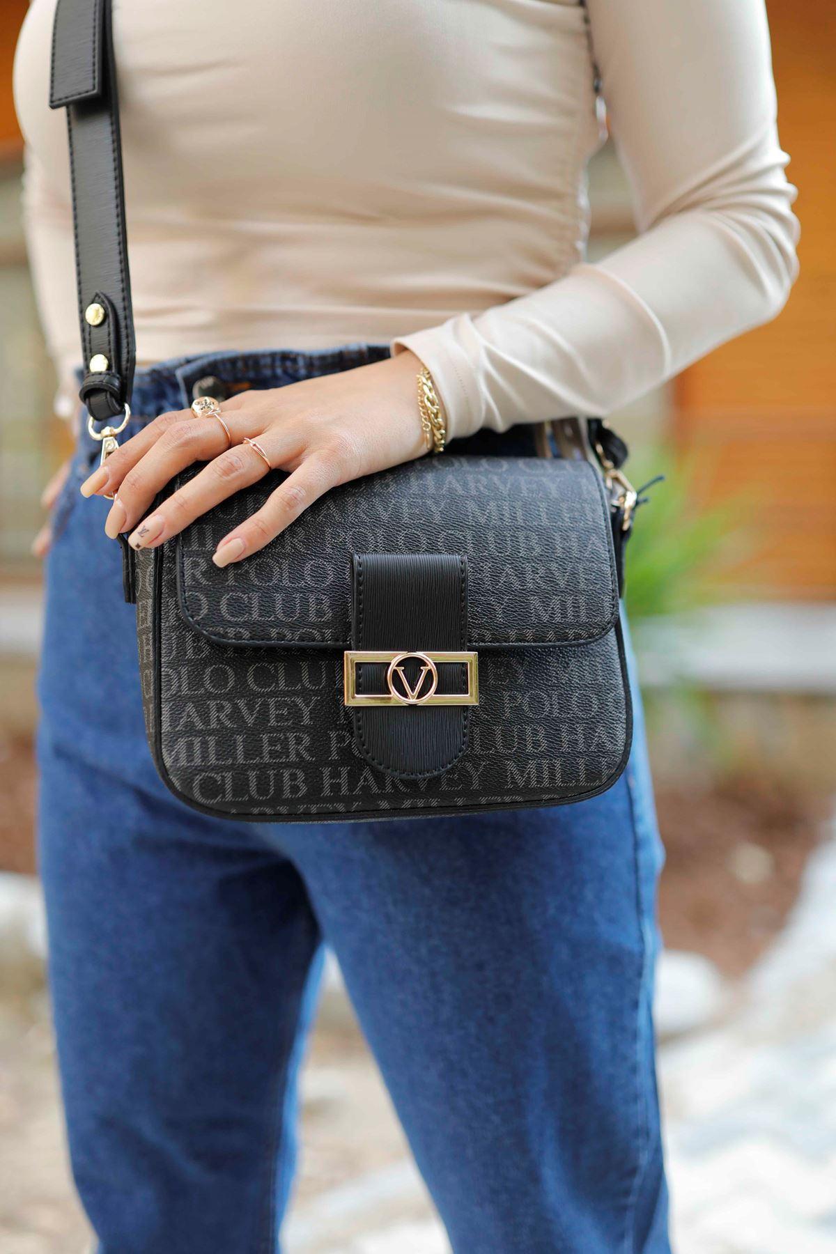 Polo Siyah Çapraz Çanta 5812