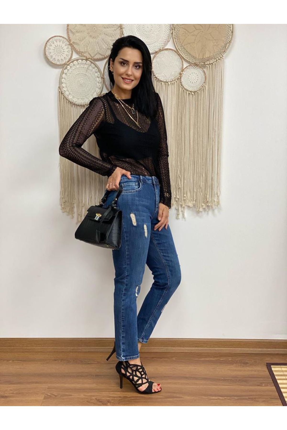 Mavi Orta Bel Mom Fit Jean