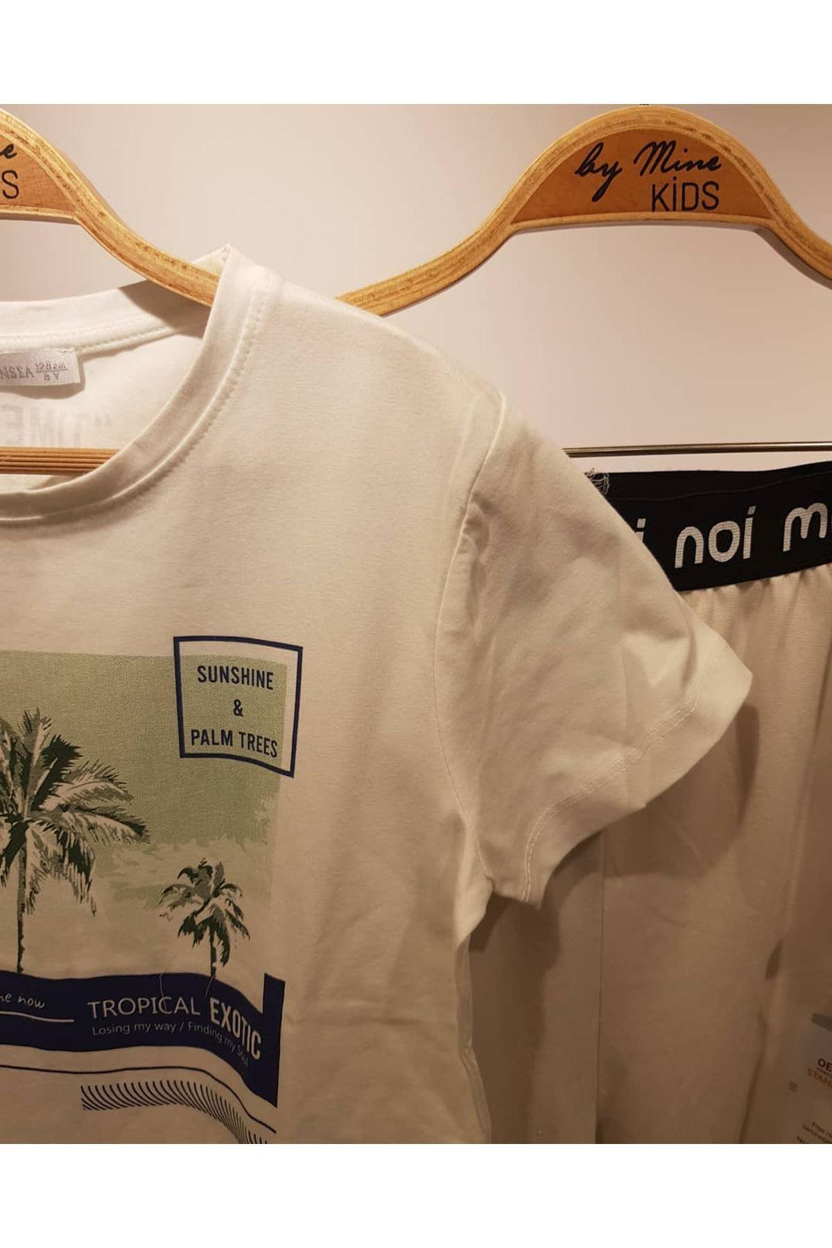 Pamuklu Hawaii T-shirt