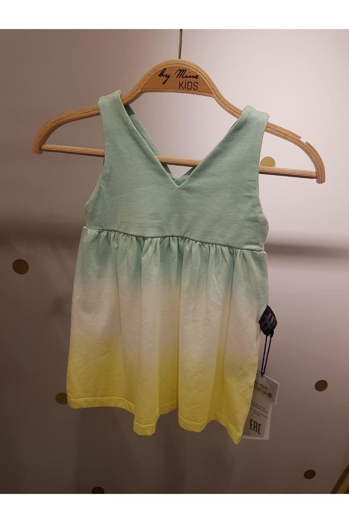 Renkli Pamuklu Elbise