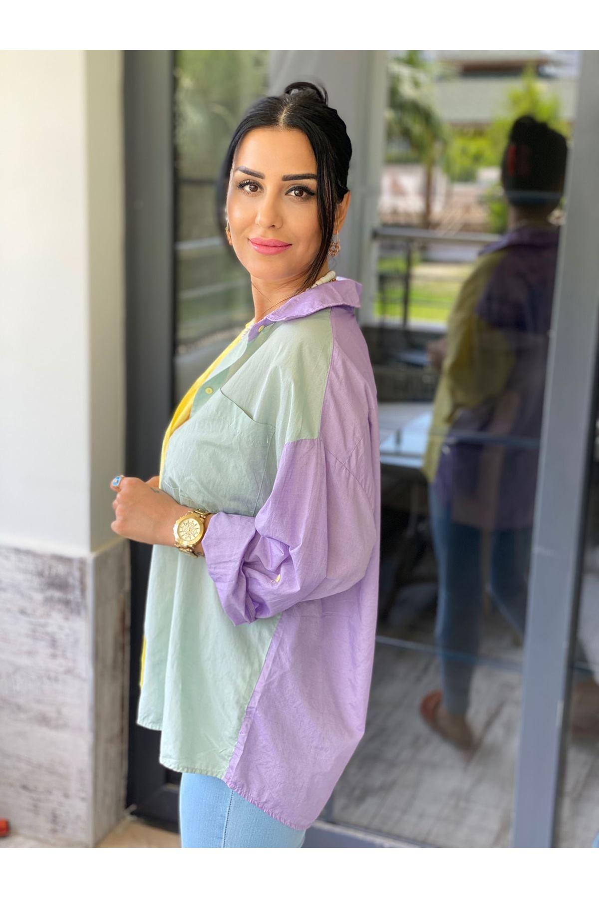 Renkli Kumaş Gömlek