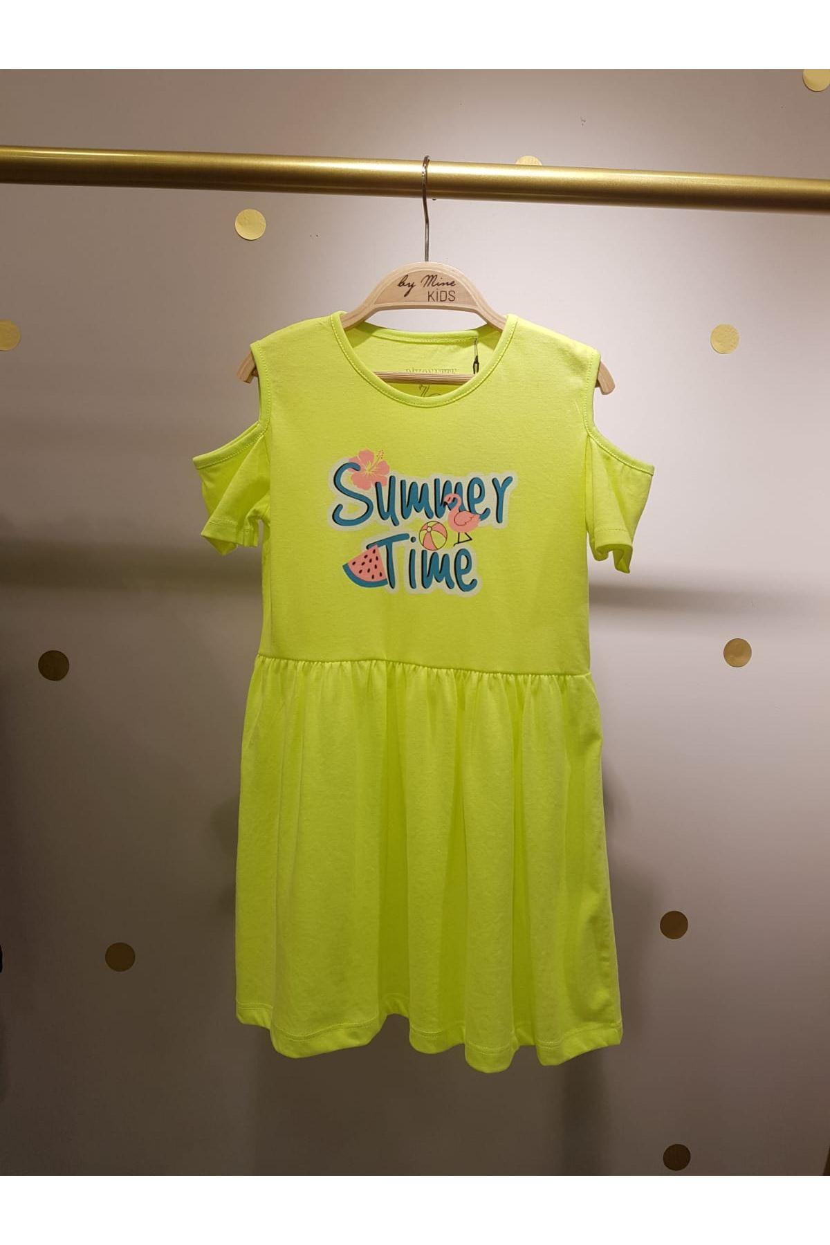 Neon Pamuklu Elbise