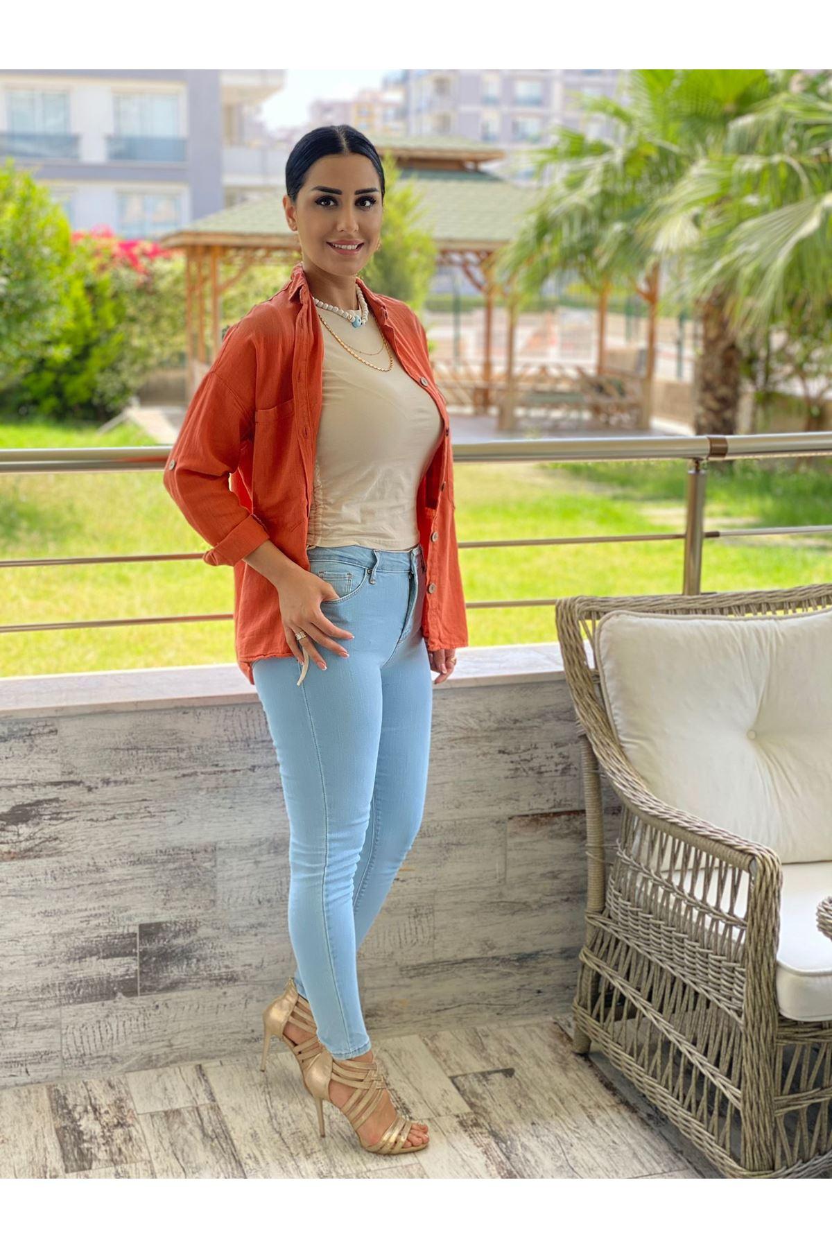 Buz Mavisi Skinny Jean