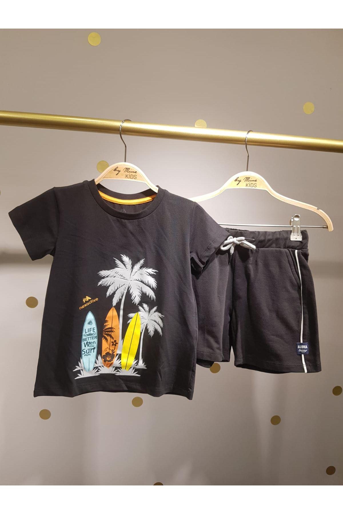 Siyah Pamuklu T-shirt