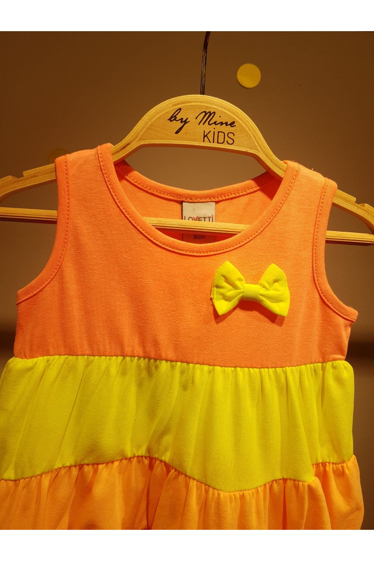 Neon Renkli Pamuklu Elbise