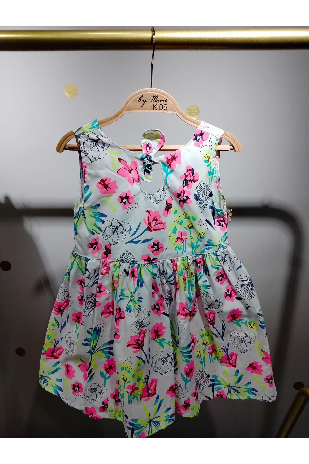 Neon Çiçekli Elbise