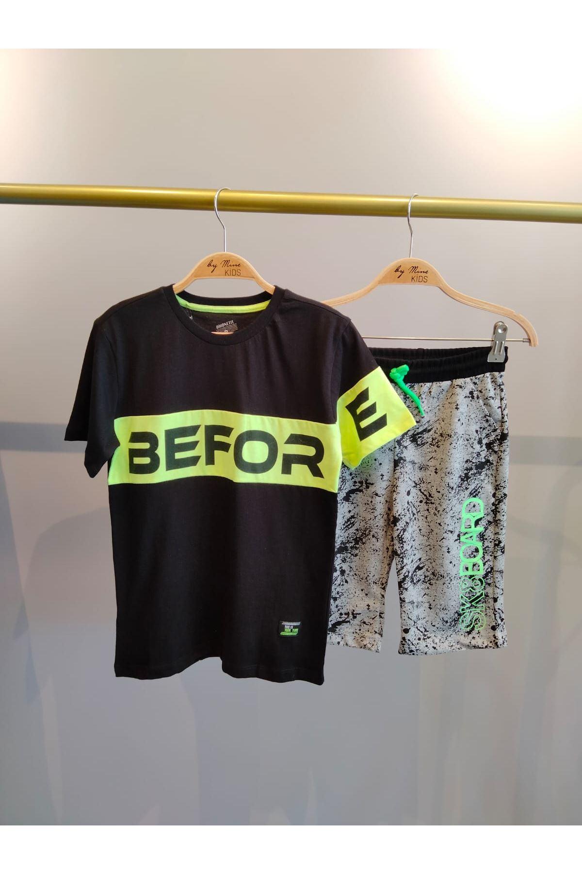 Before Yazılı Neon T-shirt